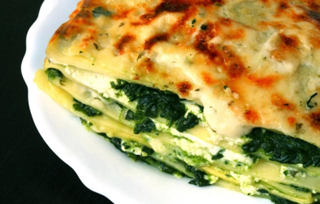 lasagne met spinazie en geitenkaas