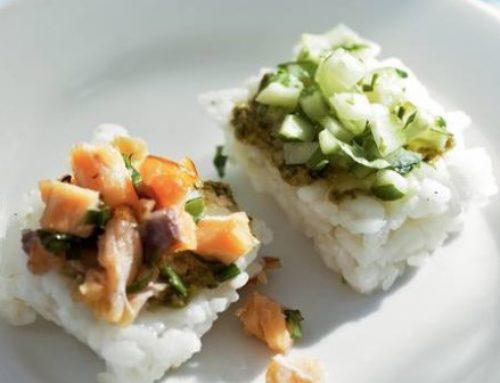 Gezonde snack: rijsthapje