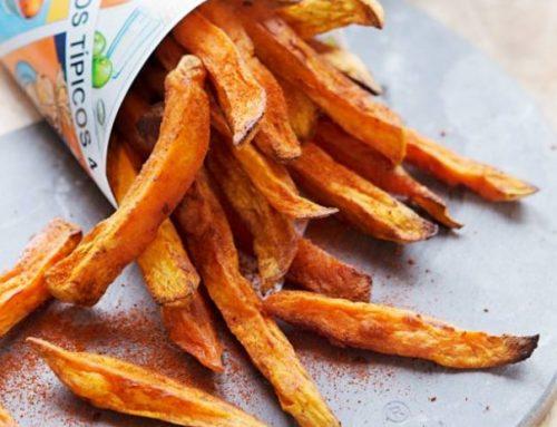 Gezonde snack: zoete aardappelfriet